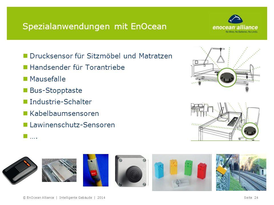 Spezialanwendungen mit EnOcean Drucksensor für Sitzmöbel und Matratzen Handsender für Torantriebe Mausefalle Bus-Stopptaste Industrie-Schalter Kabelba