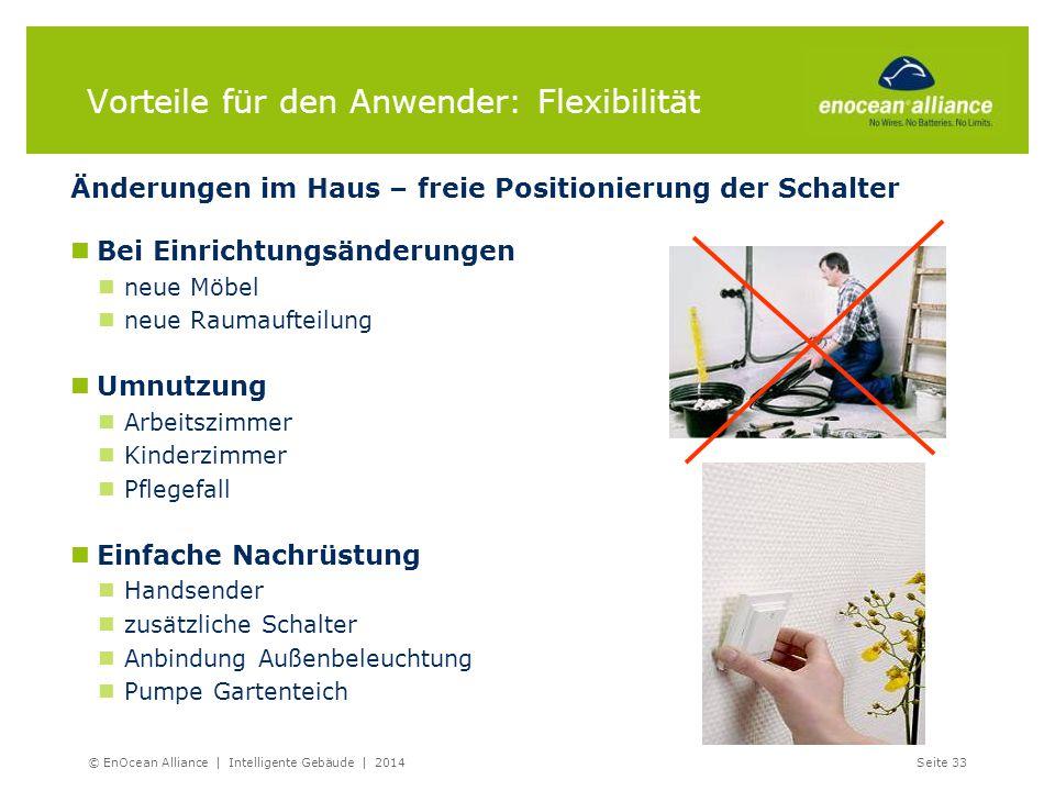 Vorteile für den Anwender: Flexibilität Änderungen im Haus – freie Positionierung der Schalter Bei Einrichtungsänderungen neue Möbel neue Raumaufteilu