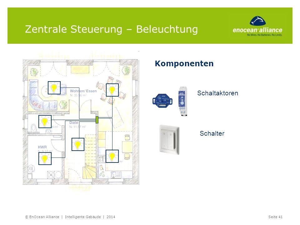 Schaltaktoren Schalter Zentrale Steuerung – Beleuchtung © EnOcean Alliance | Intelligente Gebäude | 2014Seite 41