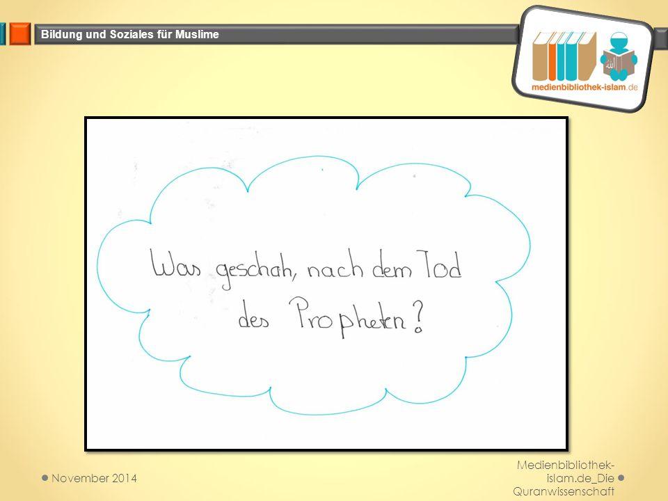 Bildung und Soziales für Muslime Medienbibliothek- islam.de_Die Quranwissenschaft November 2014