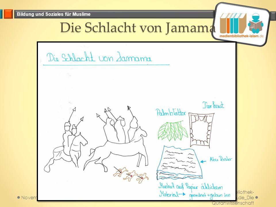 Bildung und Soziales für Muslime Die Schlacht von Jamama Medienbibliothek- islam.de_Die Quranwissenschaft November 2014