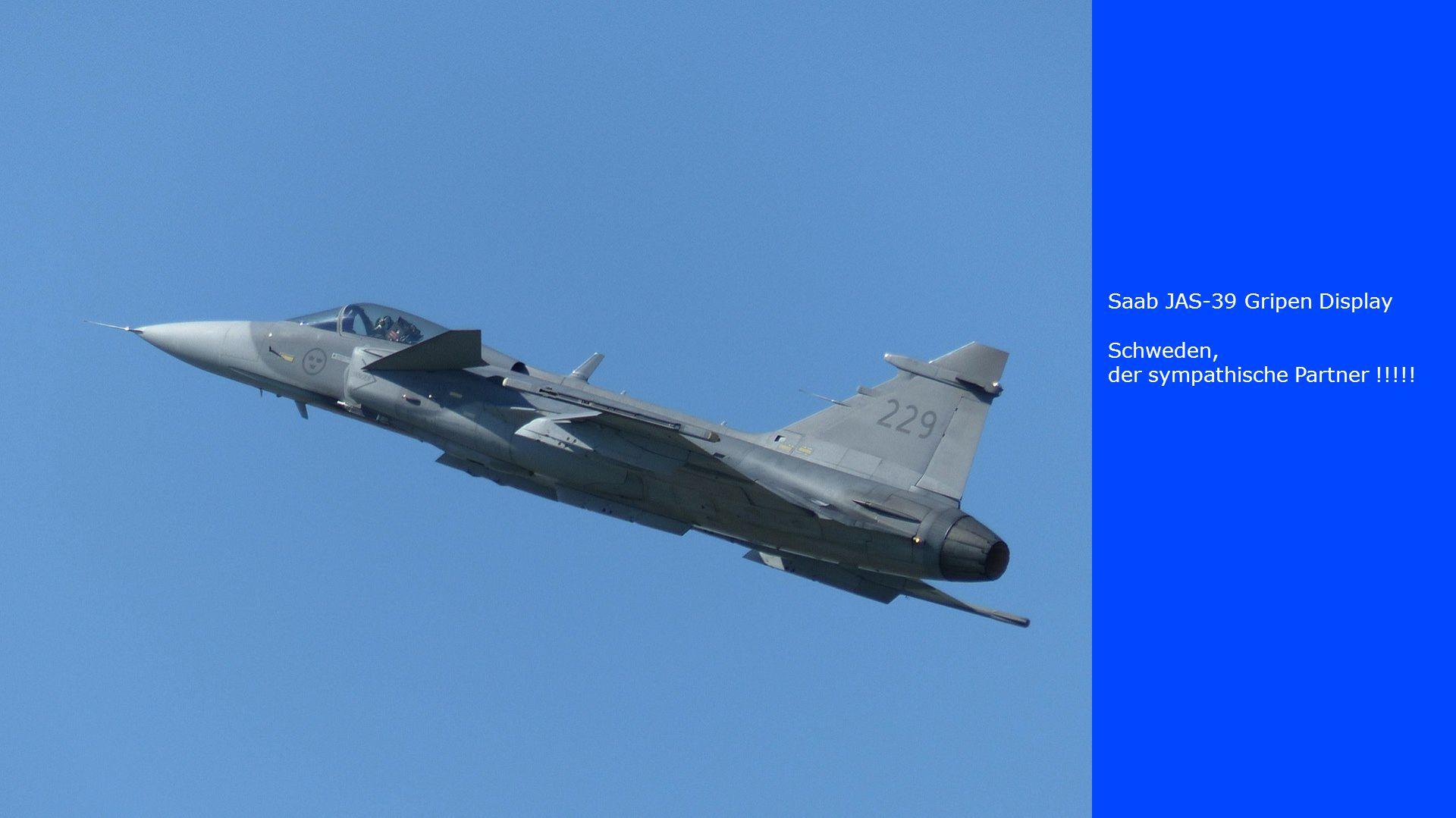 Saab JAS-39 Gripen Display Schweden, der sympathische Partner !!!!!