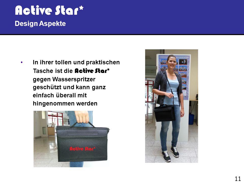 10 Active Star* Design Aspekte Die Active Star* besitzt die typischen spezifisch ergonomisch konkaven Handy Tech Brailleelemente, deren Oberfläche sic