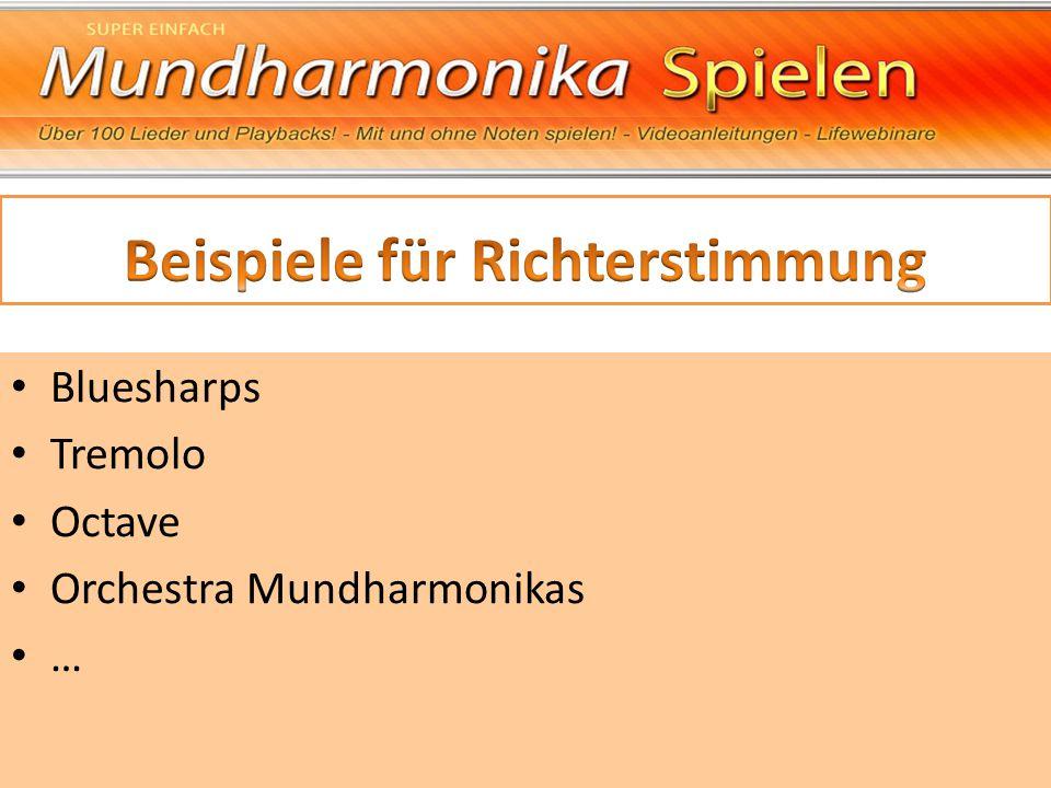 Bluesharps Tremolo Octave Orchestra Mundharmonikas …