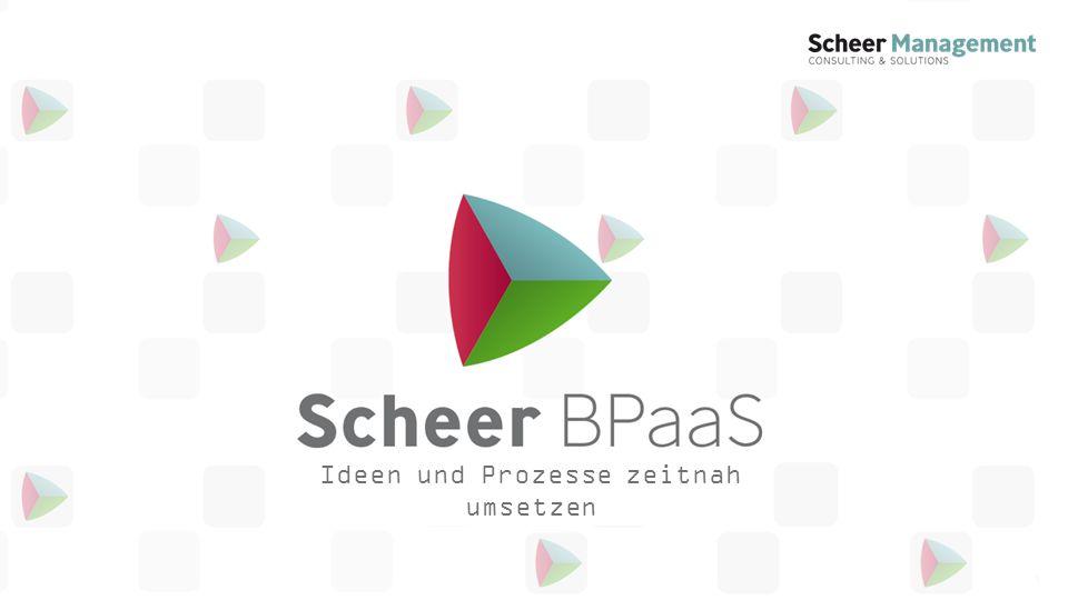 www.scheer-management.comSeite 12 Der Lösungsansatz: BPaaS Business Process as a Service Anwenderorientierte Umsetzung der Prozesse im Unternehmen einfach dokumentieren......