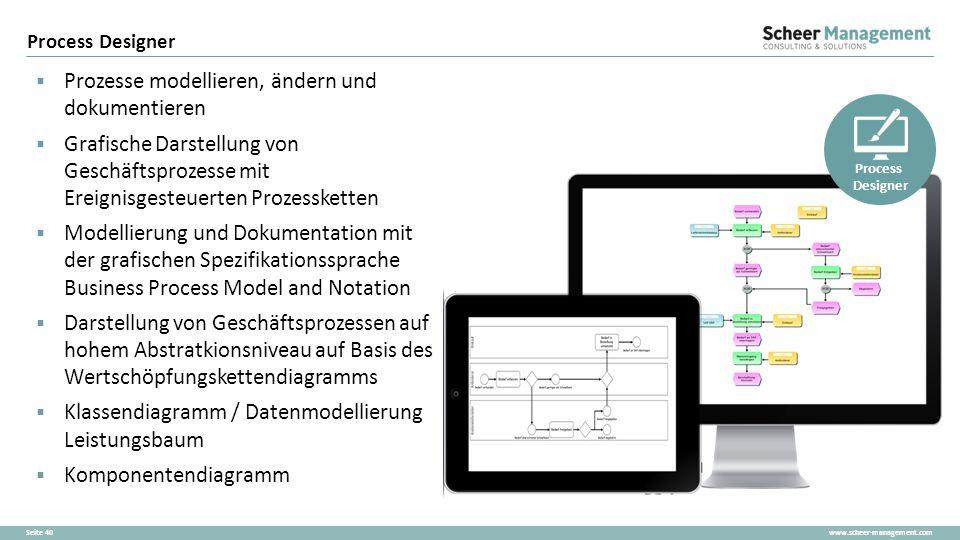 www.scheer-management.comSeite 40  Prozesse modellieren, ändern und dokumentieren  Grafische Darstellung von Geschäftsprozesse mit Ereignisgesteuert
