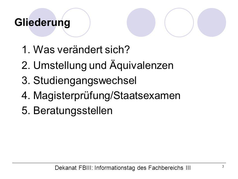 Dekanat FBIII: Informationstag des Fachbereichs III 24 3.