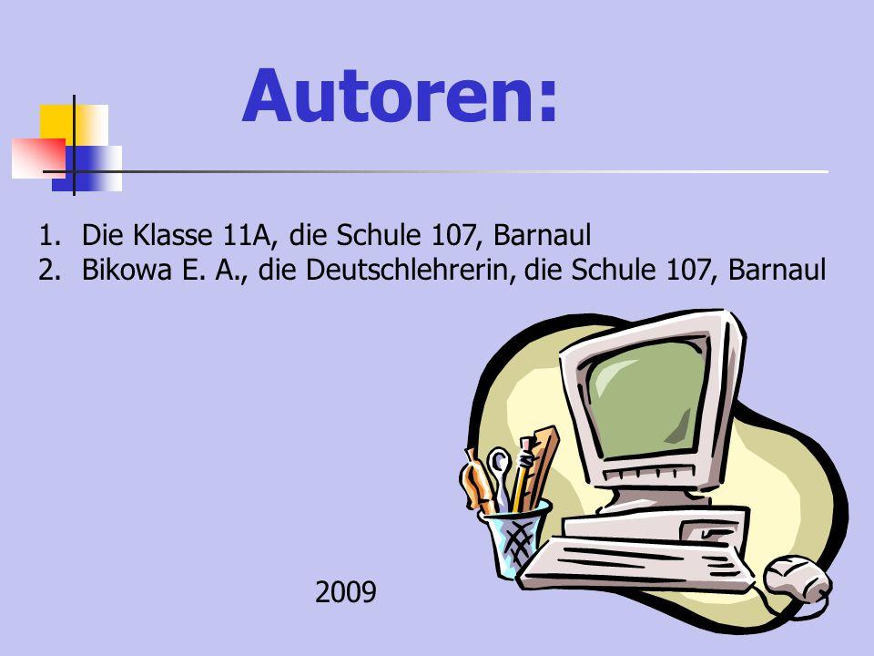 LITERATUR: 1.I. L. Bim., L. W. Sadomowa «Deutsch. Schritte 5» 2.E. I. Passow., W. B. Zarkowa «Deutsch. Fakultativer Kurs» 3.www.barnaul-altai.ruwww.ba