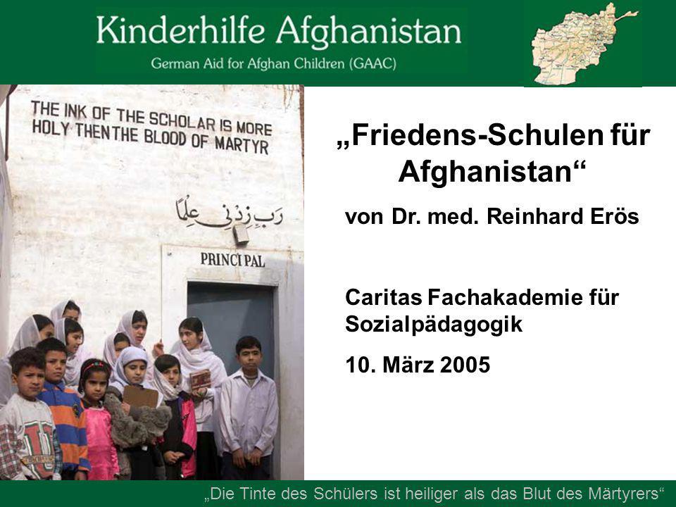 """""""Friedens-Schulen für Afghanistan von Dr. med."""