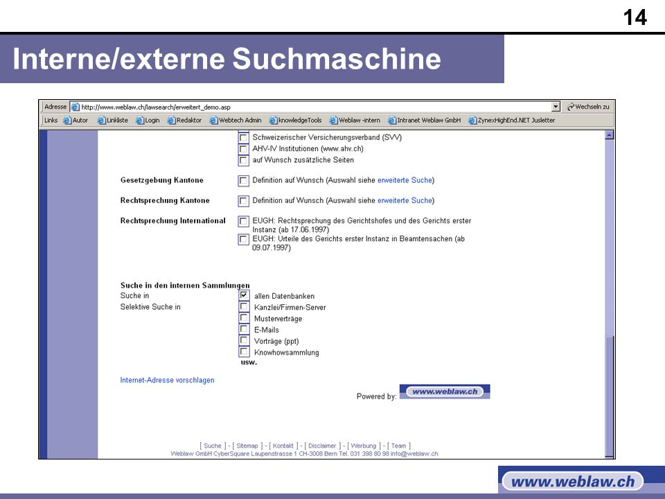 14 Interne/externe Suchmaschine