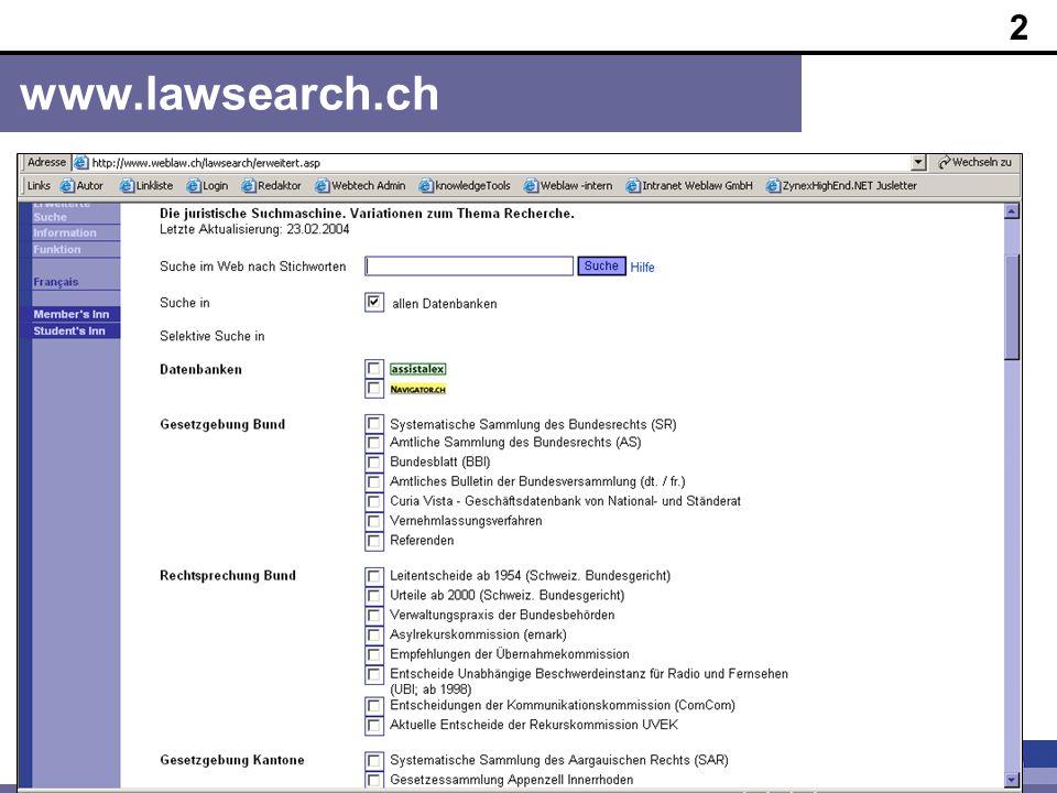 2 www.lawsearch.ch