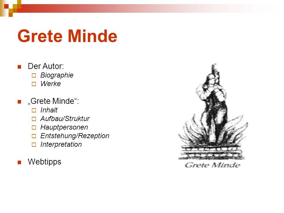 """Grete Minde Der Autor:  Biographie  Werke """"Grete Minde"""":  Inhalt  Aufbau/Struktur  Hauptpersonen  Entstehung/Rezeption  Interpretation Webtipps"""