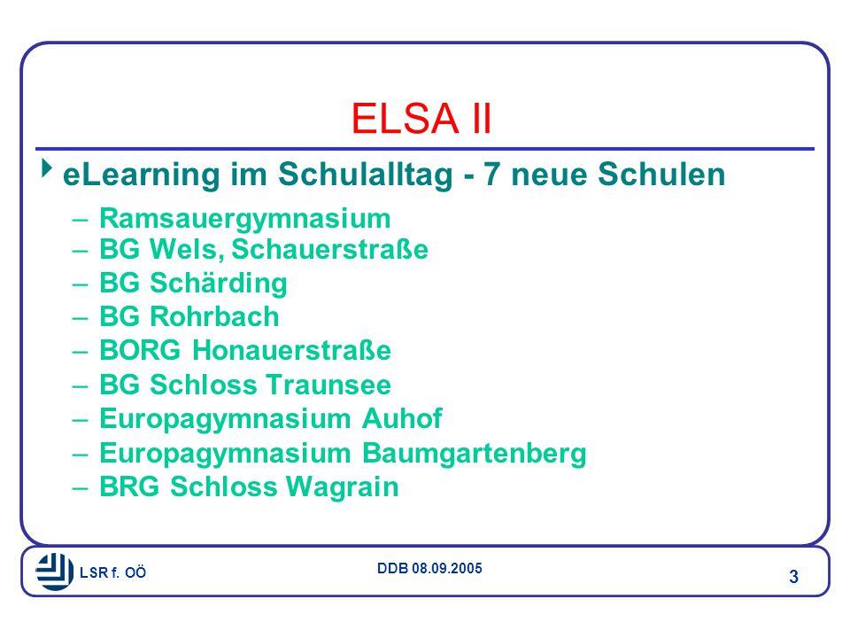 LSR f. OÖ DDB 08.09.2005 24 Netzwerk Naturwissenschaften