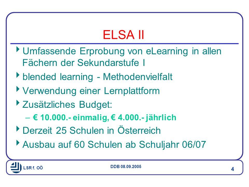 LSR f. OÖ DDB 08.09.2005 5 MNI Projekt - IT Kompetenz 4./8.Kl