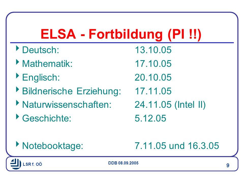 LSR f. OÖ DDB 08.09.2005 30 Nachlese - Zukunft