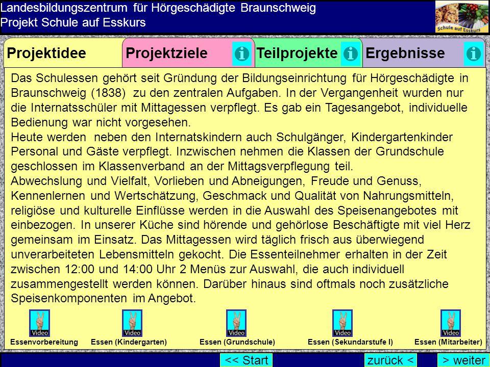 Das Schulessen gehört seit Gründung der Bildungseinrichtung für Hörgeschädigte in Braunschweig (1838) zu den zentralen Aufgaben. In der Vergangenheit