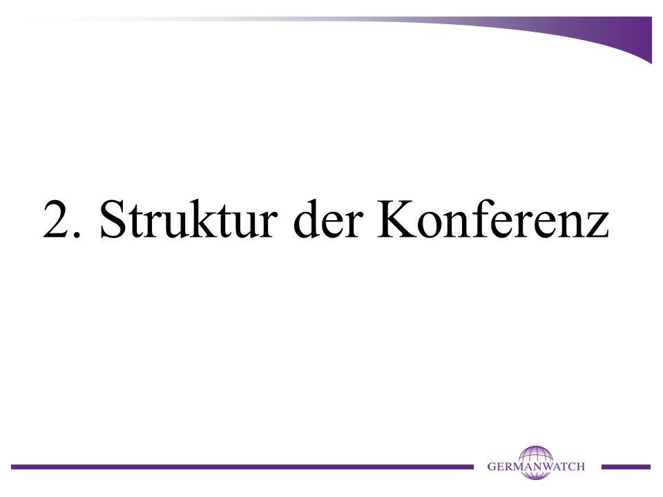 2. Struktur der Konferenz
