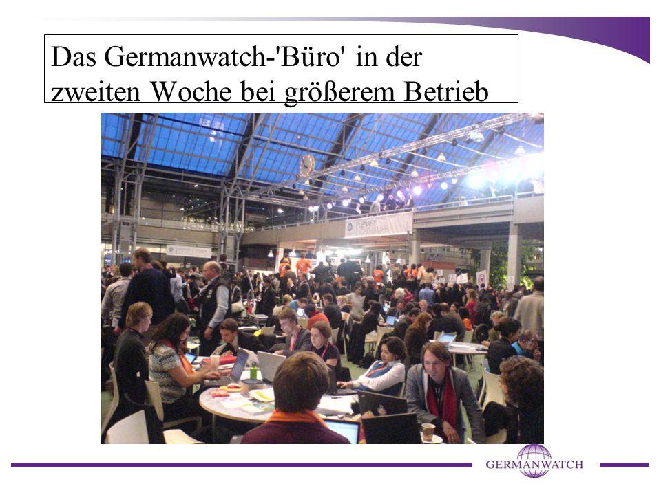 Das Germanwatch- Büro in der zweiten Woche bei größerem Betrieb