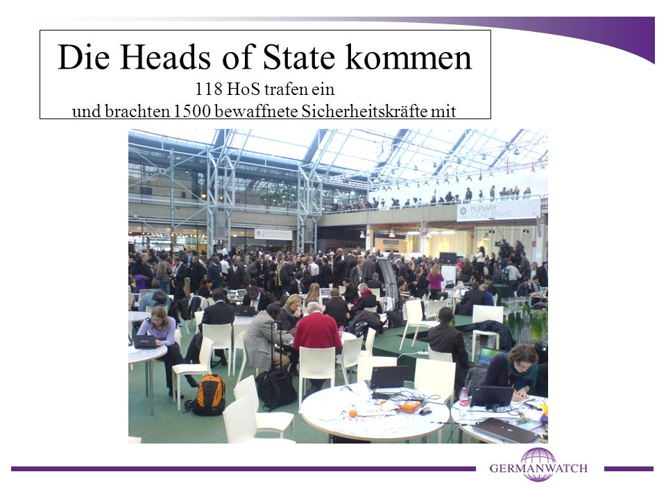 Die Heads of State kommen 118 HoS trafen ein und brachten 1500 bewaffnete Sicherheitskräfte mit