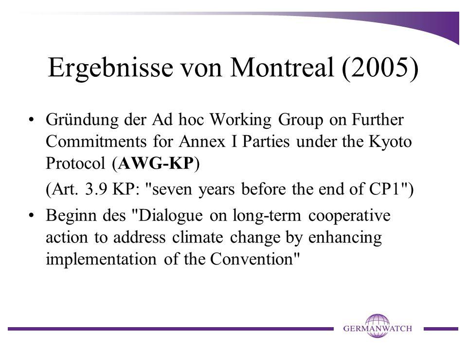 Vorbereitende Vorgänge für Kopenhagen (2009): Im Jahr 2007 (also vor COP 13, Bali) Verabschiedung des Vierten Sachstandsberichts (AR4) des Weltklimarates IPCC Friedensnobelpreis für IPCC