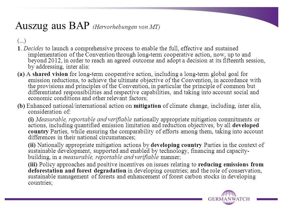 Auszug aus BAP (Hervorhebungen von MT) (...) 1.