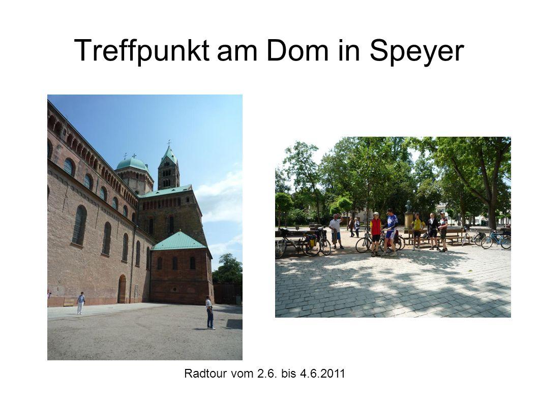 Radtour vom 2.6. bis 4.6.2011 Am Schloss in Karlsruhe