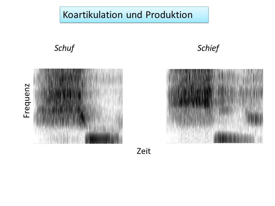 Koartikulation und Produktion SchufSchief Zeit Frequenz
