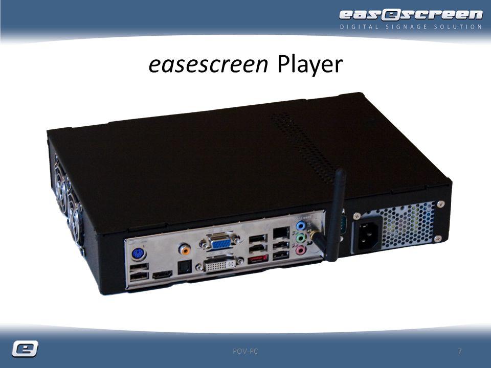 easescreen Player Dimensionen POV-PC8