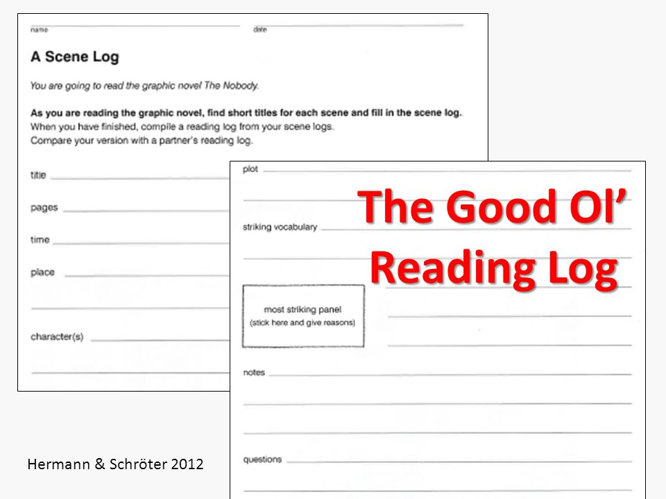 13 The Good Ol' Reading Log Hermann & Schröter 2012