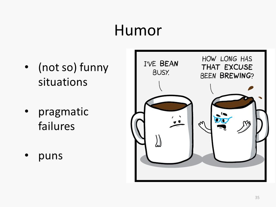 35 Humor (not so) funny situations pragmatic failures puns