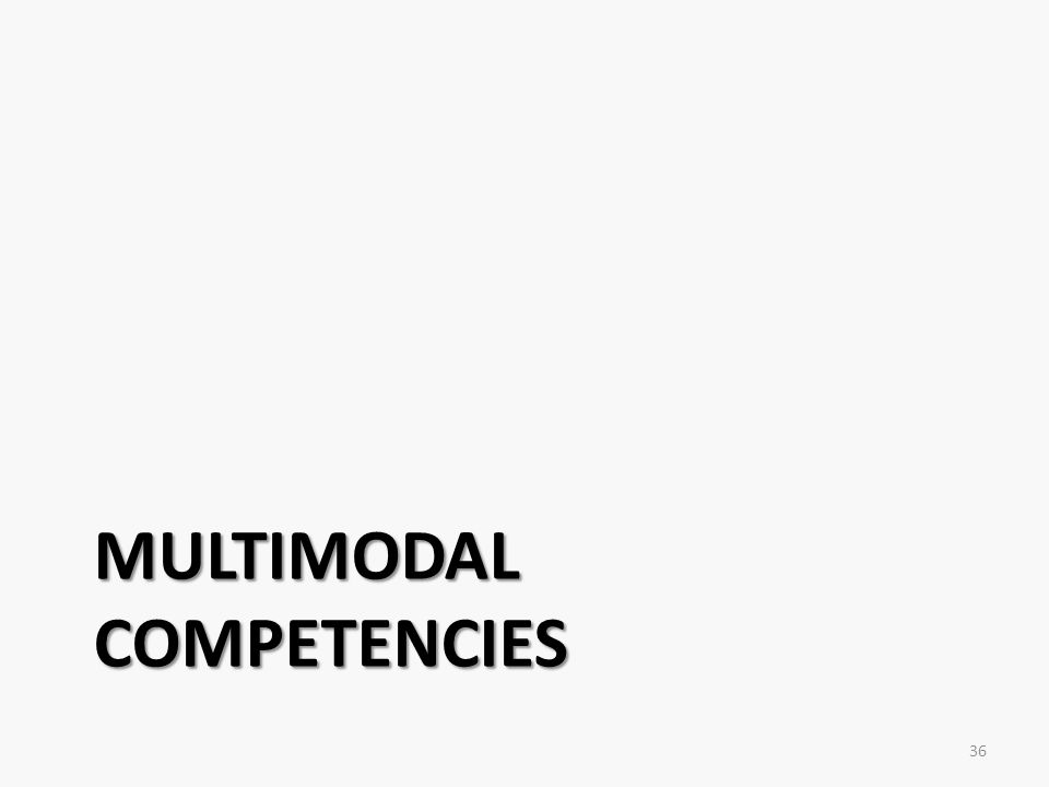 MULTIMODAL COMPETENCIES 36