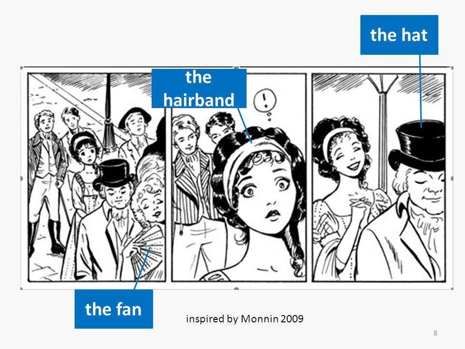 visual symbols comics o smell, o movement, o thinking, o sound effects etc.