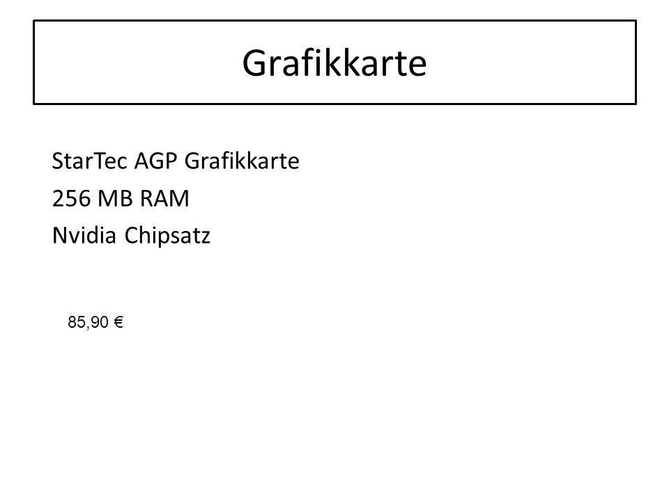 Grafikkarte StarTec AGP Grafikkarte 256 MB RAM Nvidia Chipsatz 85,90 €
