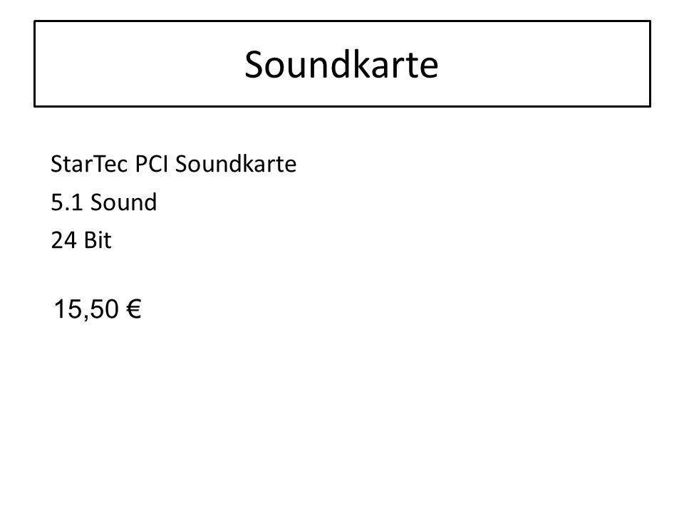 Soundkarte StarTec PCI Soundkarte 5.1 Sound 24 Bit 15,50 €