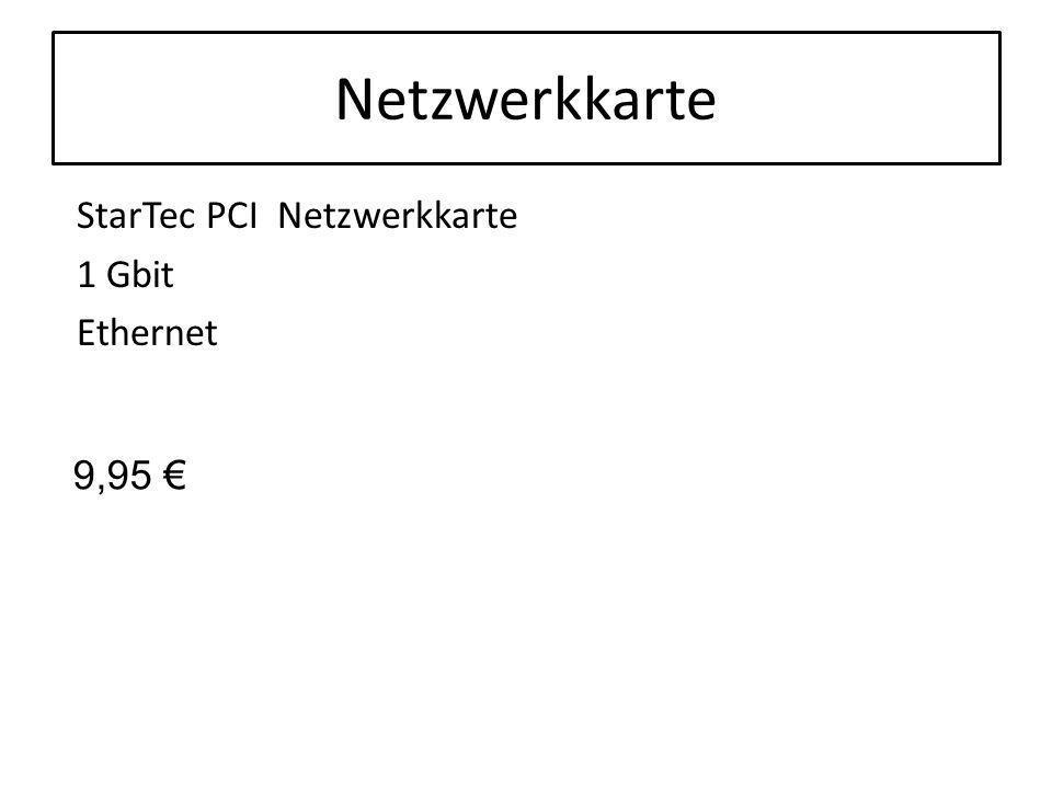 Netzwerkkarte StarTec PCI Netzwerkkarte 1 Gbit Ethernet 9,95 €