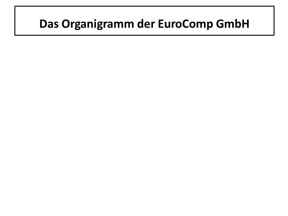 Das Organigramm der EuroComp GmbH 8