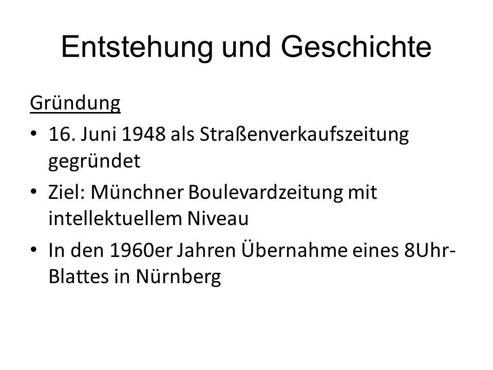 Entstehung und Geschichte Gründung 16.