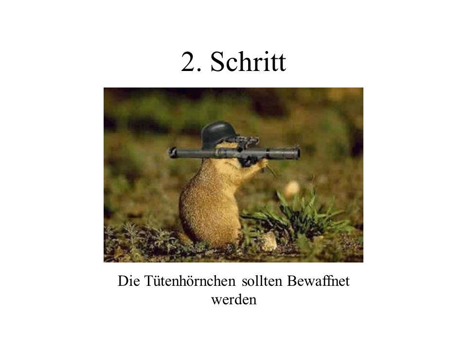 2. Schritt Die Tütenhörnchen sollten Bewaffnet werden