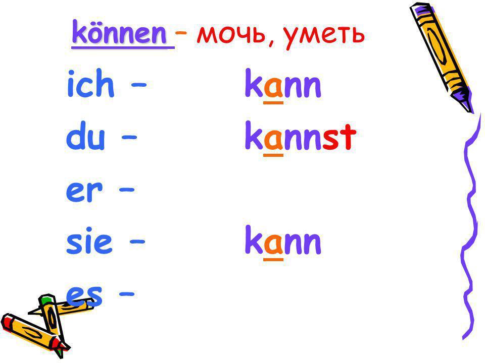 Модальные глаголы Präsens