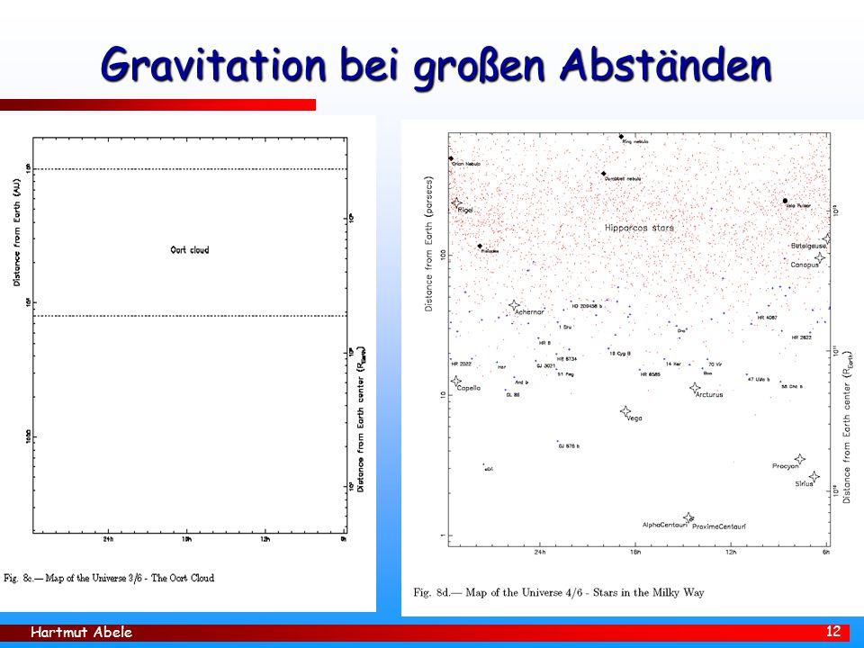Hartmut Abele 12 Gravitation bei großen Abständen