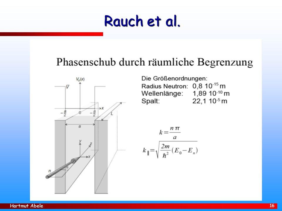 Hartmut Abele 16 Rauch et al.