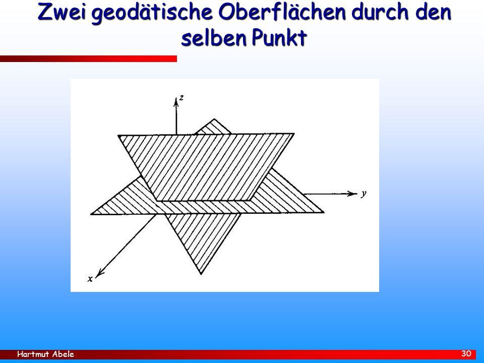 Hartmut Abele 30 Zwei geodätische Oberflächen durch den selben Punkt