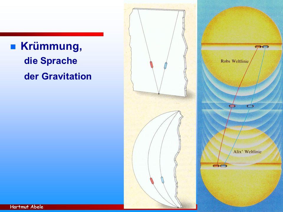 Hartmut Abele 33 n Krümmung, die Sprache der Gravitation