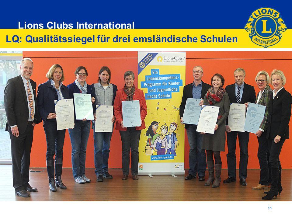 Lions Clubs International 11 LQ: Qualitätssiegel für drei emsländische Schulen