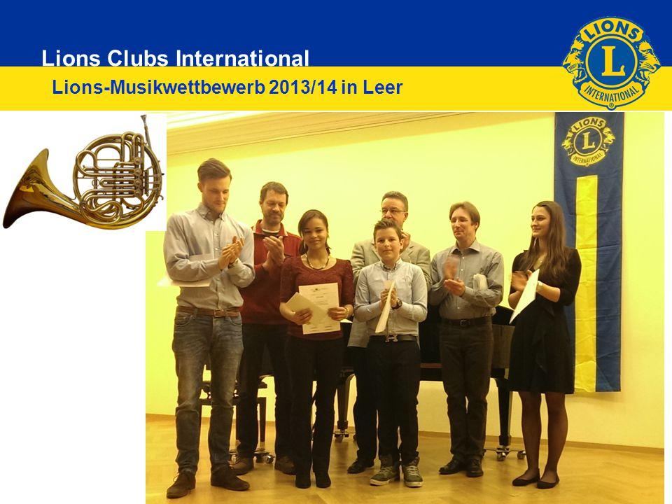 Lions Clubs International 6 Lions-Musikwettbewerb 2013/14 in Leer