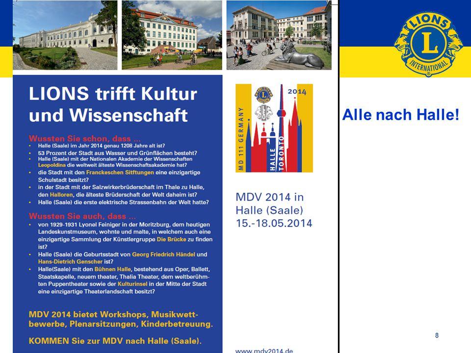 Lions Clubs International 8 Alle nach Halle!