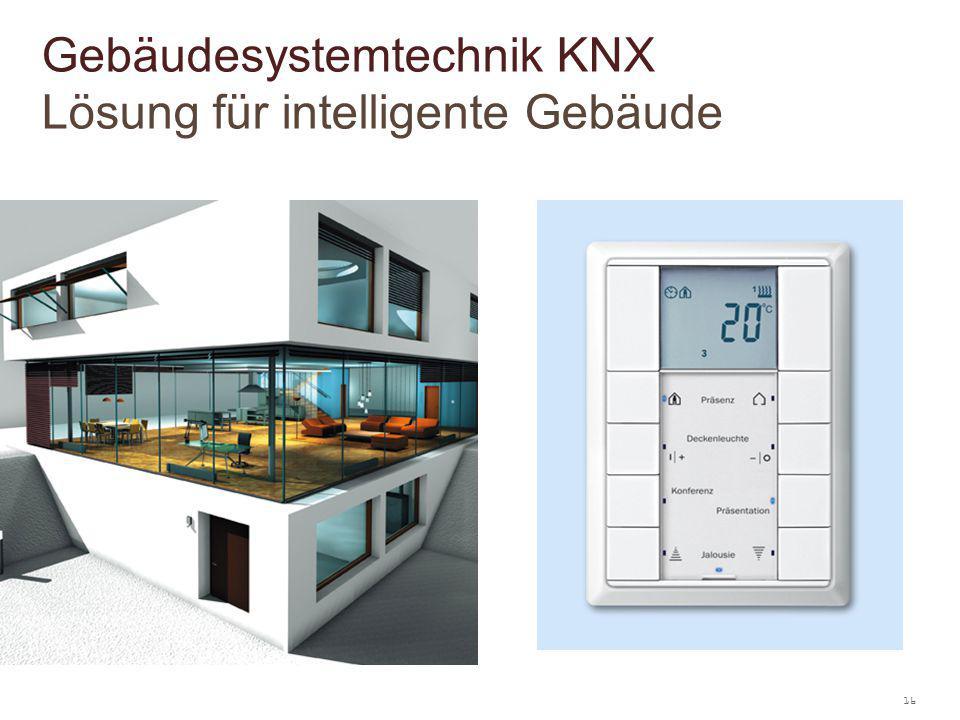 16 Gebäudesystemtechnik KNX Lösung für intelligente Gebäude