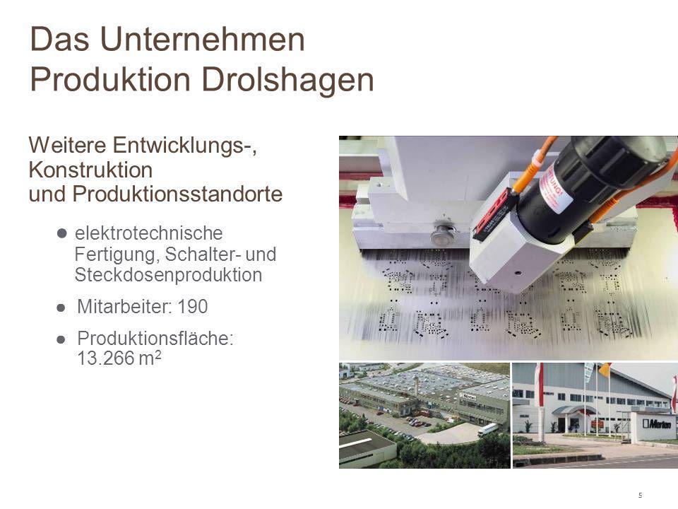 5 Weitere Entwicklungs-, Konstruktion und Produktionsstandorte ● elektrotechnische Fertigung, Schalter- und Steckdosenproduktion ● Mitarbeiter: 190 ●