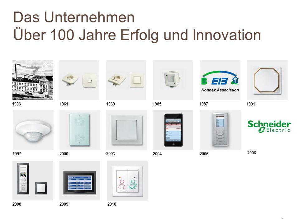 6 1906 19611969198519871991 1997 2000200320042006 20082009 Das Unternehmen Über 100 Jahre Erfolg und Innovation 2010