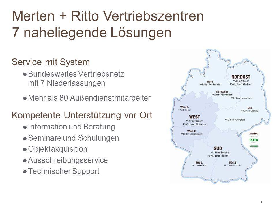 8 Service mit System ●Bundesweites Vertriebsnetz mit 7 Niederlassungen ●Mehr als 80 Außendienstmitarbeiter Kompetente Unterstützung vor Ort ●Informati